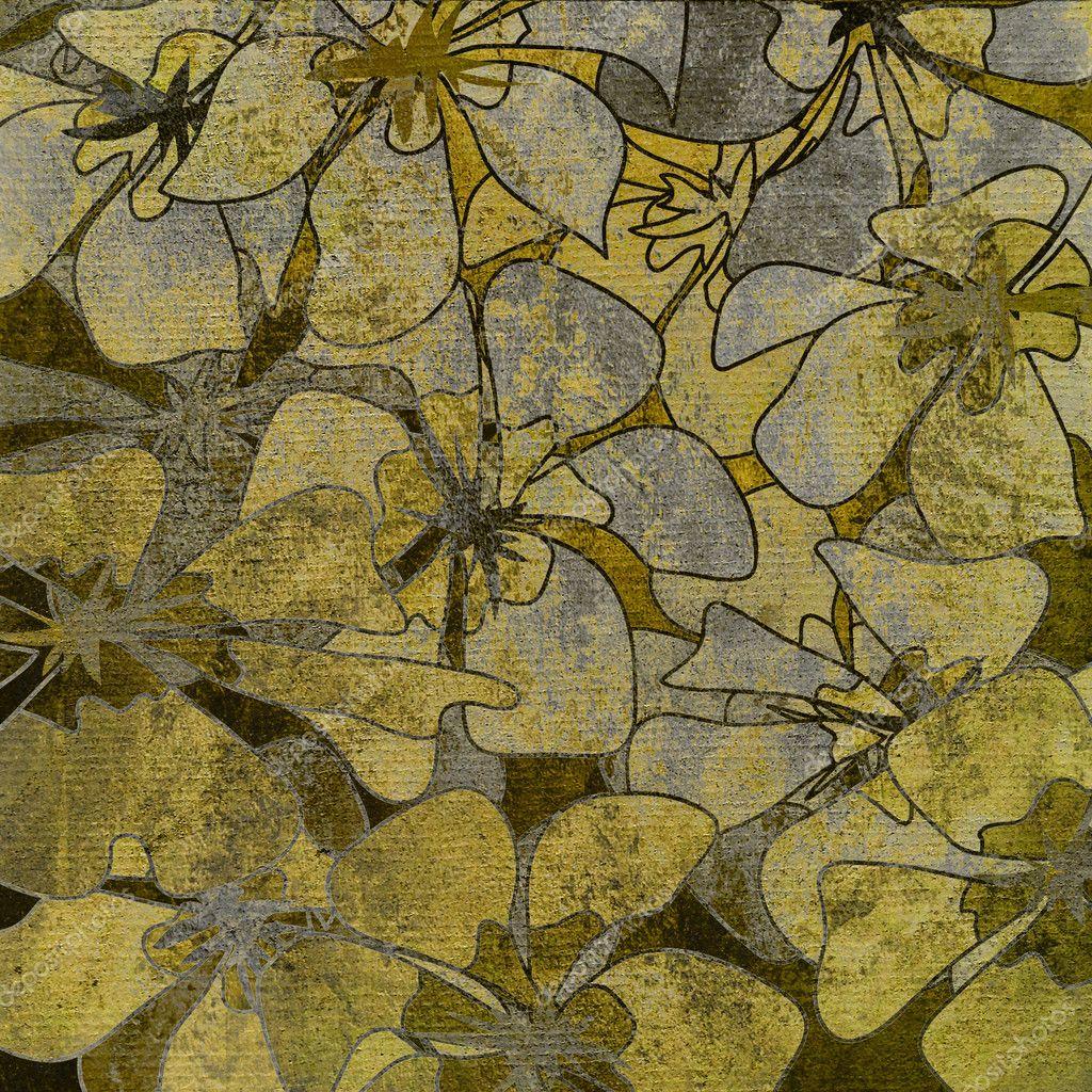 艺术复古花卉手绘图背景