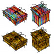 Art set of shopping boxes — Stock Photo #6572378