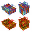 Art set of shopping boxes — Stock Photo