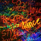 Art urban graffiti raster colorful background — Stock Photo
