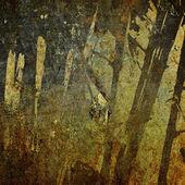 艺术花卉复古多彩背景 — 图库照片