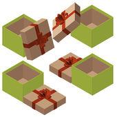 Art colorful boxes set — Stock Photo