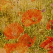 Konst floral grunge grafisk bakgrund — Stockfoto