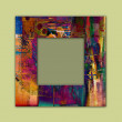 Art photo frame colorful background — Stock Photo