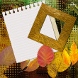 Art photo frame colorful background — Stockfoto