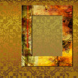 Art frame on pattern background — Lizenzfreies Foto