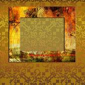 Art frame on pattern background — Stock Photo