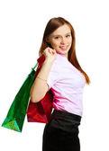 Dziewczyna z torby — Zdjęcie stockowe