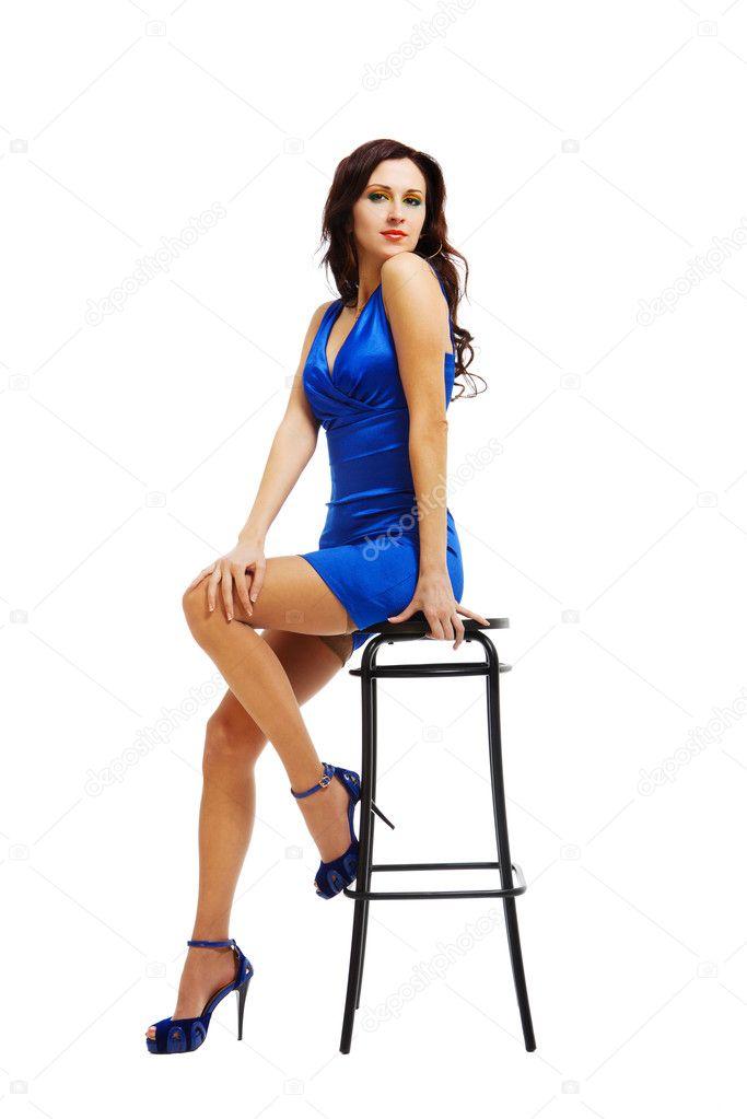 Фотосессия девушки на стуле 24 фотография