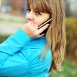 Stock Photo: Girl with mobile phone