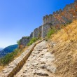 Stairs to old fort in Mystras, Greece - Stock Photo