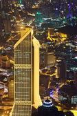 View to Kuala Lumpur (Malaysia) at night — Stock Photo