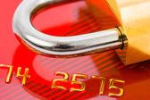 Cerradura y tarjeta de crédito — Foto de Stock