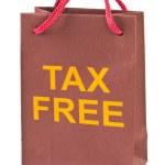 Shopping bag Tax Free — Stock Photo