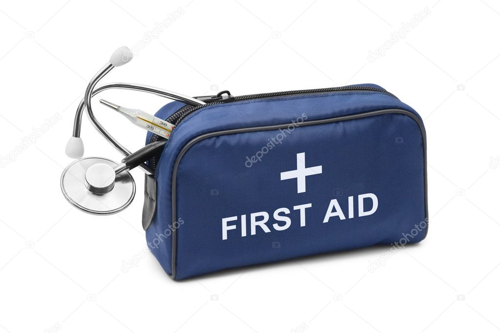 First aid kit isolated on white background — Stock Photo #5562008