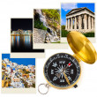 Stock Photo: Greece photography and compass