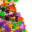 Mulicolored stars pattern - Foto Stock