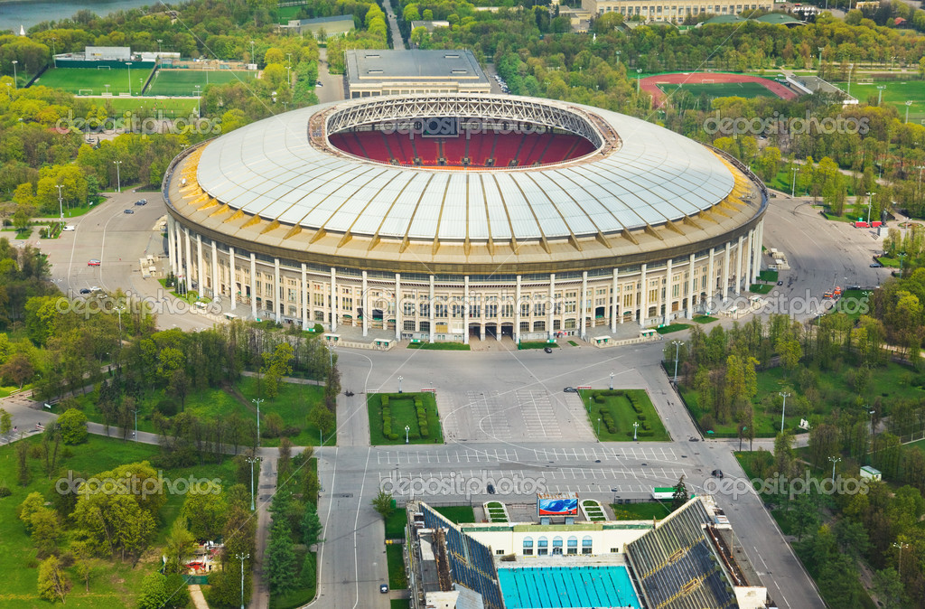 Stadium Luzniki at Moscow, Russia - aerial view  Stock Photo #5607491