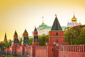 Kremlin in Moscow at sunset — Stock Photo