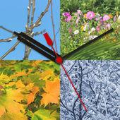 Orologio su priorità bassa stagione — Foto Stock