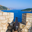 Retro cannon at Dubrovnik, Croatia — Stock Photo #5668012