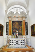 Church interior at Dubrovnik in Croatia — Stockfoto