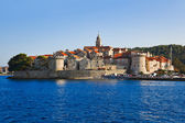 Town Korcula at Croatia — Stock Photo
