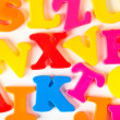 Multicolored letters — Stock Photo