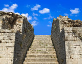 Old stairs and sky — Stock Photo