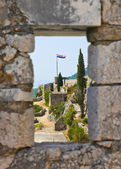 Window at old fort in Split, Croatia — Stock Photo