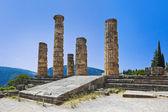 Ruins of Apollo temple in Delphi, Greece — Stock Photo