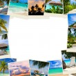 Stock Photo: Frame made of summer beach maldives images