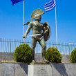Постер, плакат: Statue of king Leonidas in Sparta Greece