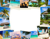 Frame made of summer beach maldives images — Foto Stock