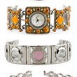 Set of woman watches - Stok fotoğraf