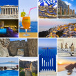 Royalty-Free Stock Photo: Collage of Greece travel images