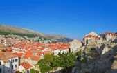 Panorama of Dubrovnik in Croatia — Stock Photo