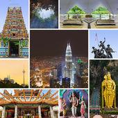 Collage of Kuala Lumpur (Malaysia) images — Stock Photo