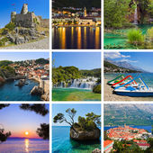 Collage of Croatia travel images — Stock Photo