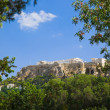 Parthenon temple in Acropolis at Athens, Greece — Stock Photo #5992712