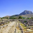 Ruins of town in Corinth, Greece — Stock Photo