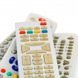 TV remote controls - Stock Photo