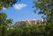 Parthenon temple in Acropolis at Athens, Greece — Stock Photo