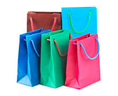 Multicolored shopping bags — Stock Photo