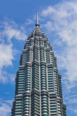 Twin towers at Kuala Lumpur (Malaysia) — Fotografia Stock
