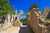 Rovine della vecchia città di mistra, grecia — Foto Stock