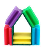 House made of sponges — Stock Photo