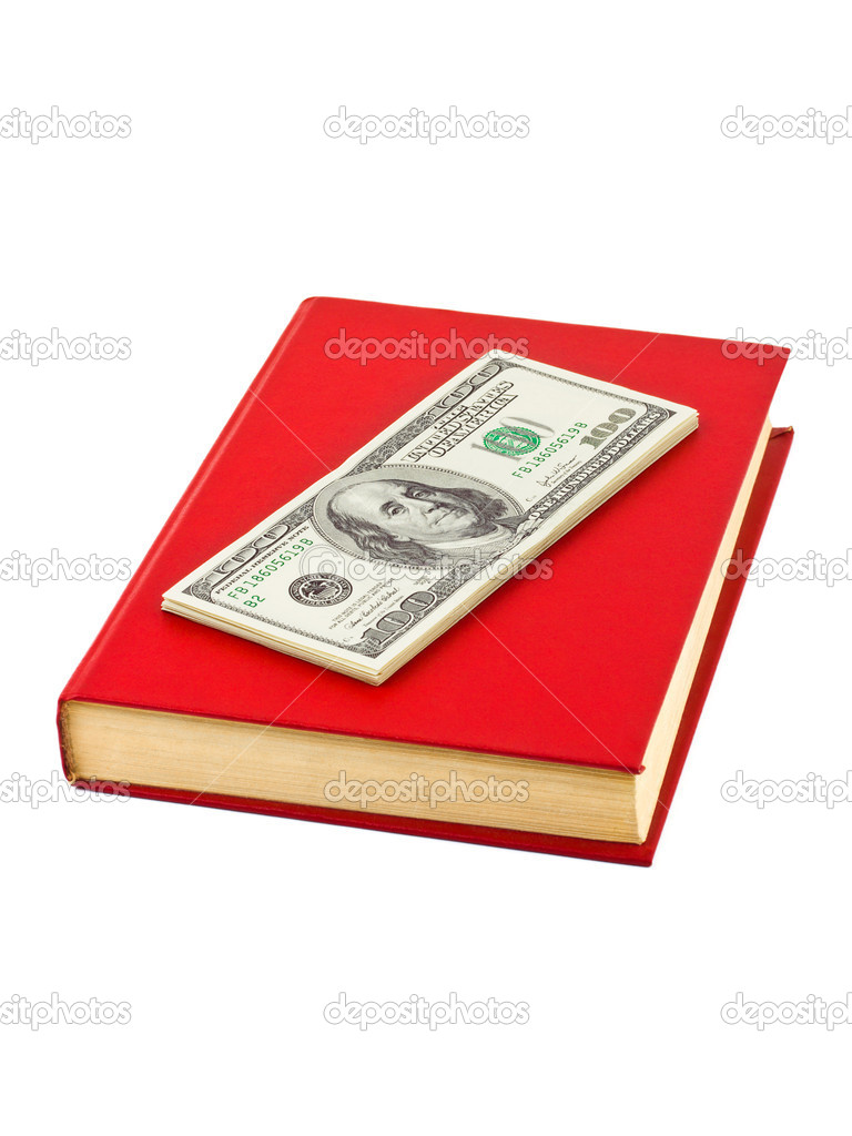 Money and book isolated on white background  Stock Photo #6086324
