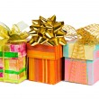 Three gifts — Stock Photo