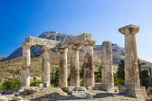 Ruins of temple in Corinth, Greece — Stock Photo